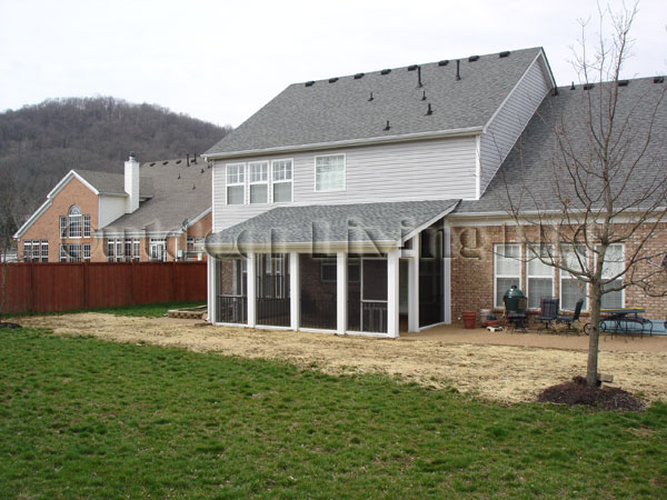 Here Is Billu0027s House, Where We Poured Some More Aggregate Concrete, Built A Roof  Over The Patio, And Screened It In.